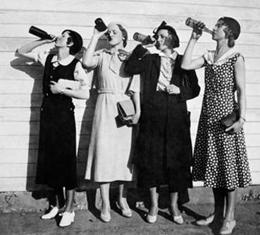 Flappers drinking bootleg alcohol during prohibition ...