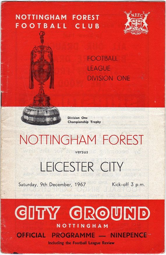 Vintage Football (soccer) Programme - Nottingham Forest v Leicester City, 1967/68 season #football #soccer #nottsforest