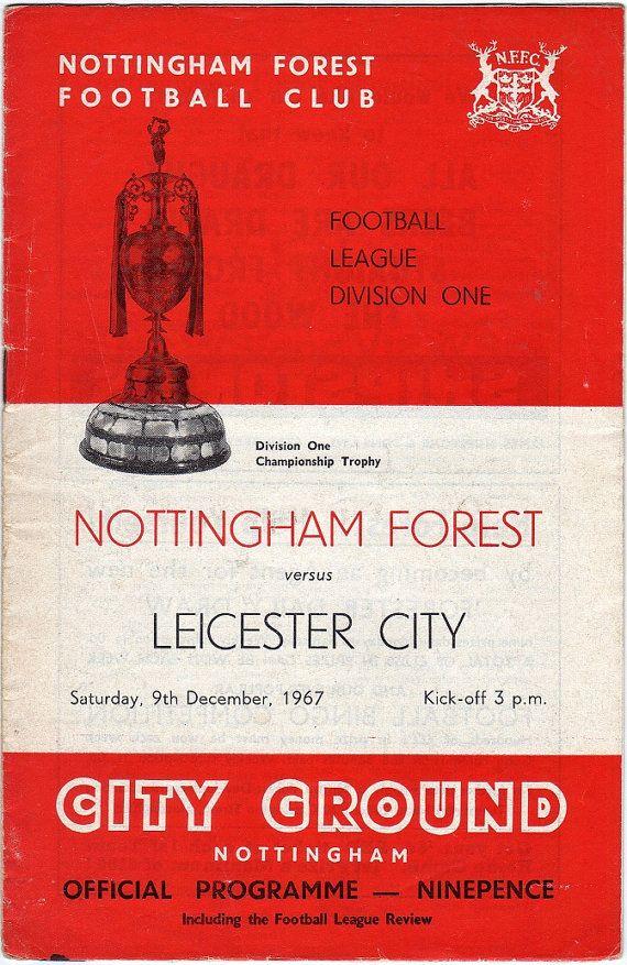Vintage Football (soccer) Programme - Nottingham Forest v Leicester City, 1967/68 season #football #soccer #nottsforest