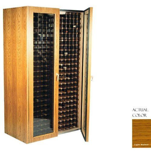 Vinotemp Vino-440tdg-ltwa 280 Bottle Wine Cellar - Glass Doors / Light Walnut Cabinet by Vinotemp. $3939.00. Vinotemp VINO-440TDG-LTWA 280 Bottle Wine Cellar - Glass Doors / Light Walnut Cabinet. VINO-440TDG-LTWA. Wine Cellars. This Wine Cellar features two double paned glass doors with piano hinges for a classic look to wine storage. The wine mate self contained cooling system ensures proper circulation while your wine is stored safely away. Digital temperature...