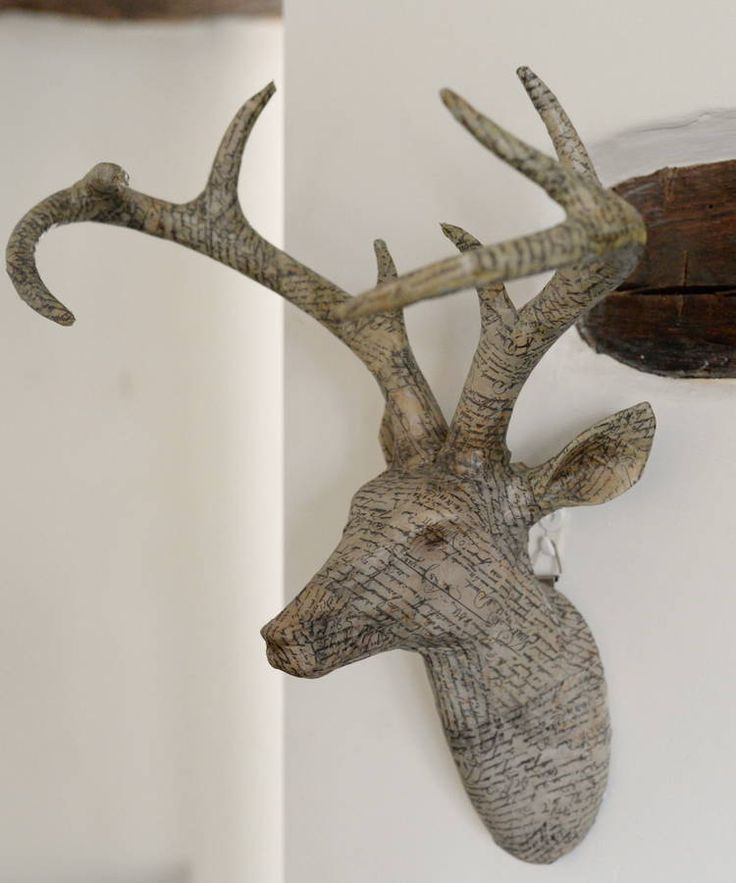 papered stag head by the forest & co | notonthehighstreet.com