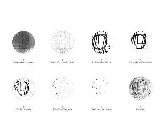Serpentine Gallery Pavilion by Herzog & de Meuron and Ai Weiwei; plan © Herzog & de Meuron and Ai Weiwei