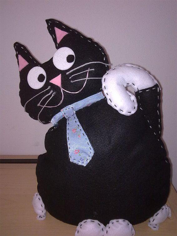 Gatto fermaporta Tutorial e Cartamodello - #diy
