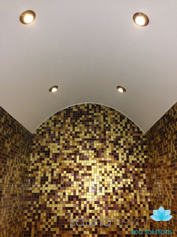 Waterproof vault for the steam rooms and turkish baths