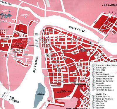 Mapas de Valdivia - Chile - MapasBlog