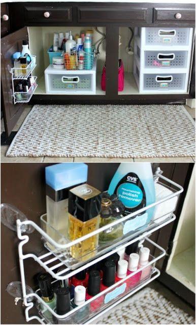 Pour ranger les produits de beauté, produits de douche