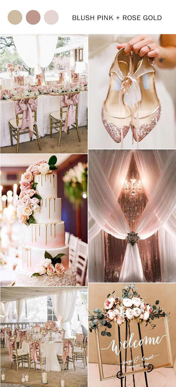 Elegant Rose Gold And Blush Pink Wedding Color Ideas 2020 2020