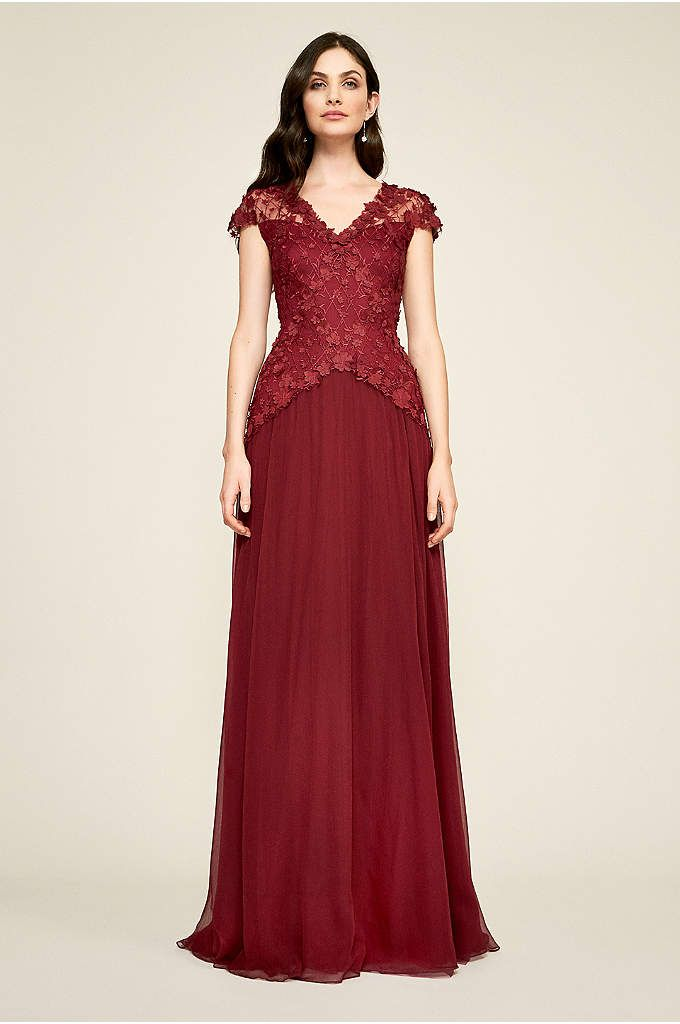28b195b442c Lyon Embroidered Tulle Gown - Floral appliques and embroidery top the bodice  of