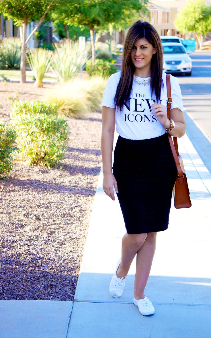 Cute pencil skirt outfits with keds - Google Search   Fashion/Style   Pinterest   Keds and ...
