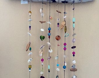 Seashell Windchime by Bitsofthebeach on Etsy