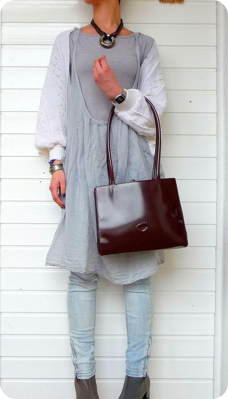 COMTESSE LUXUS LEDER Tasche Bag Schultertasche Umhängetasche Braun Leather Purse | eBay