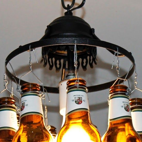 Do it yourself ideas and projects: Beer Bottle Lamp
