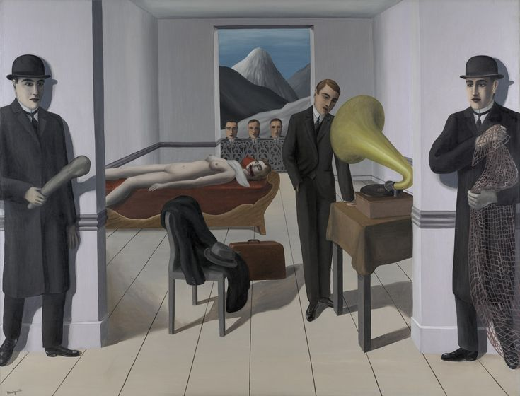 René Magritte. The Menaced Assassin. Brussels 1927