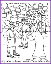 Nebuchadnezzar Hebrew Boys Coloring Page