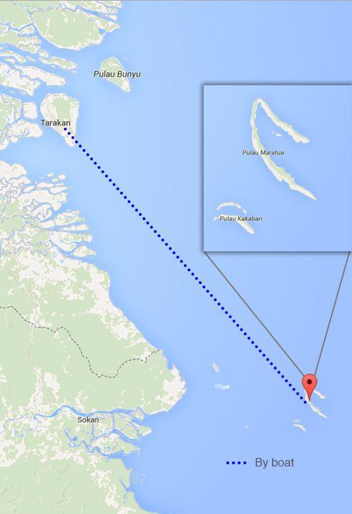 Route: Jakarta - Balikpapan - Tarakan (by plane) - Derawan Island (by boat)