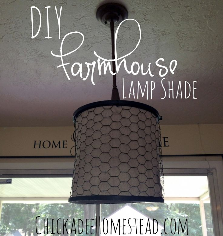 DIY Farmhouse Lamp shade | ChickadeeHomestead.com
