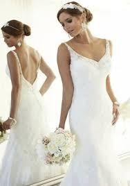 Resultado de imagen para vestidos de novia sencillos con espalda cubierta