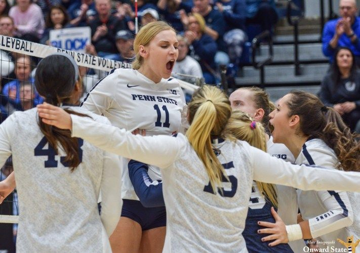 Tori Gorrell Delivers In The Clutch For Penn State Volleyball Onward State Penn State Volleyball Penn State Athletics Penn State