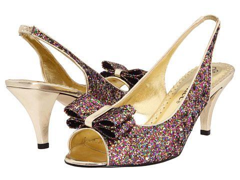 J Renee Rosina Silver Glitter Fabric, Shoes, Silver, Women