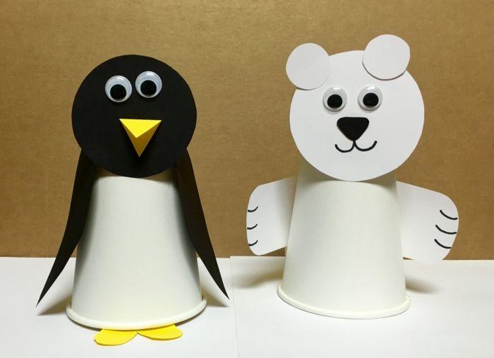 Basteln mit Kindern: Kreative Bastelideen aus Papp- und Plastikbechern zum Selbermachen – Freshideen