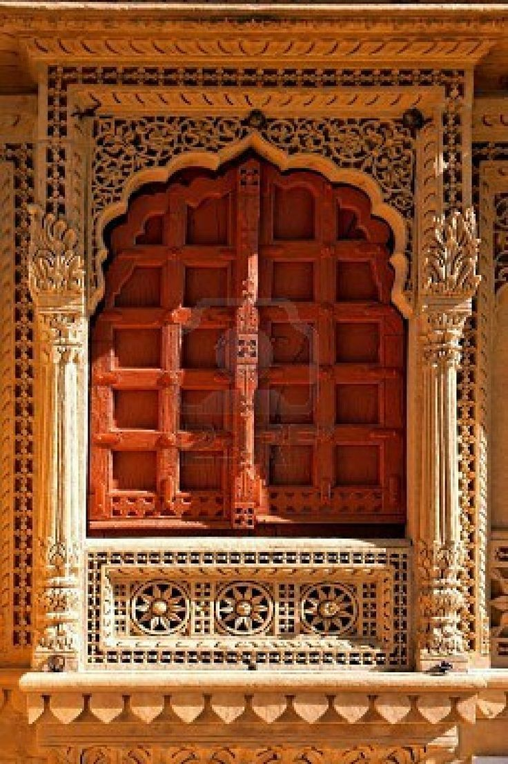 India Rajasthan Jaisalmer Jain Temple Doors And Windows