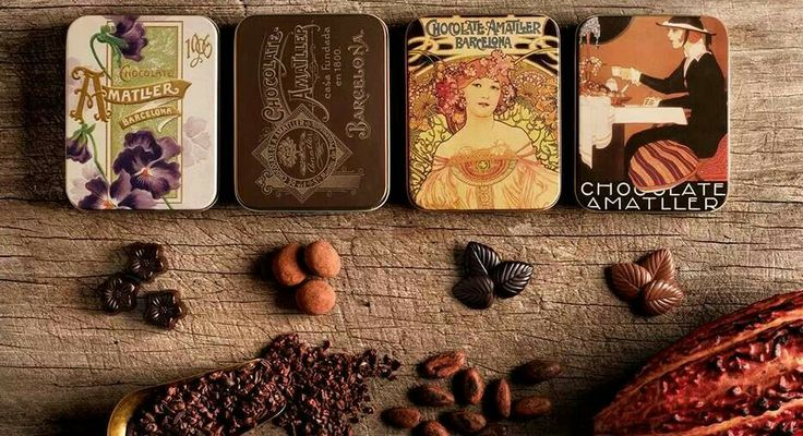 Beautiful Amatller chocolate new tins available at spanishoponline.com