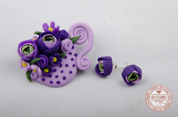 http://accessoriesforstars.blogspot.ro/2015/01/set-purple-cup-of-tea.html #cupoftea #cup #tea #purple #flowers #ranunculus #brooches #earrings #sets #accessoriesforstars #vintage #doods #little #powderpurple #vintagepurple #darkpurple #sweet #gradient