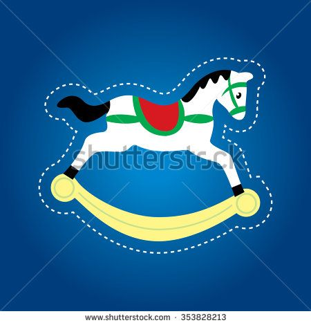 Vector illustration of toy horse - stock vector