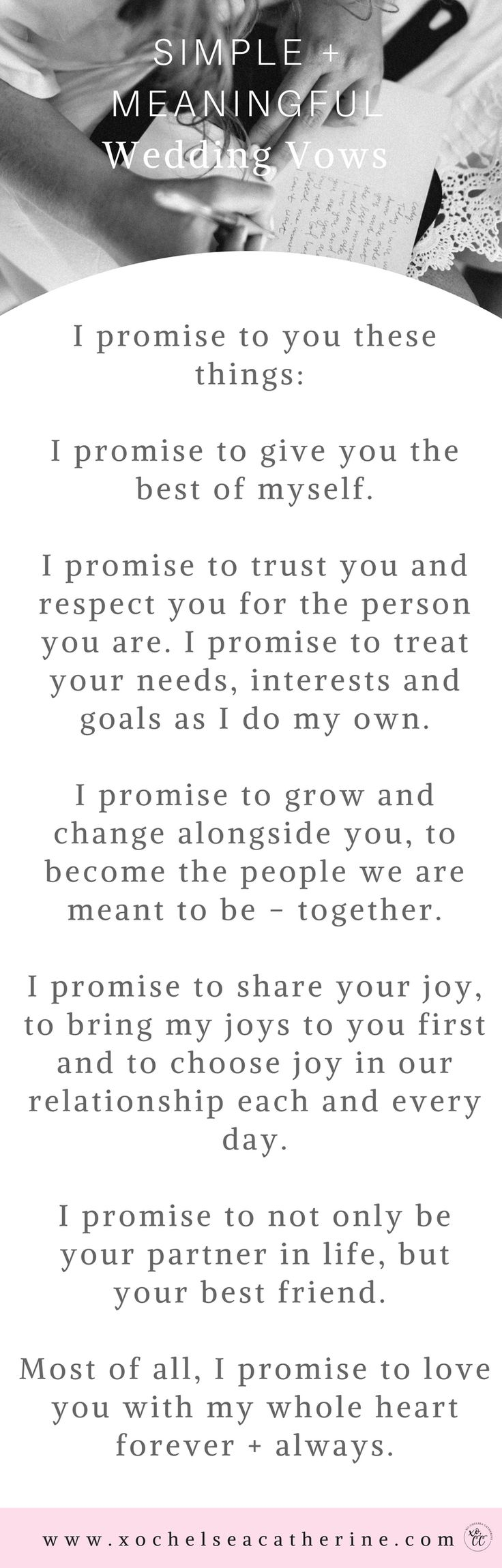 simple and meaningful wedding vows #Weddingsvows