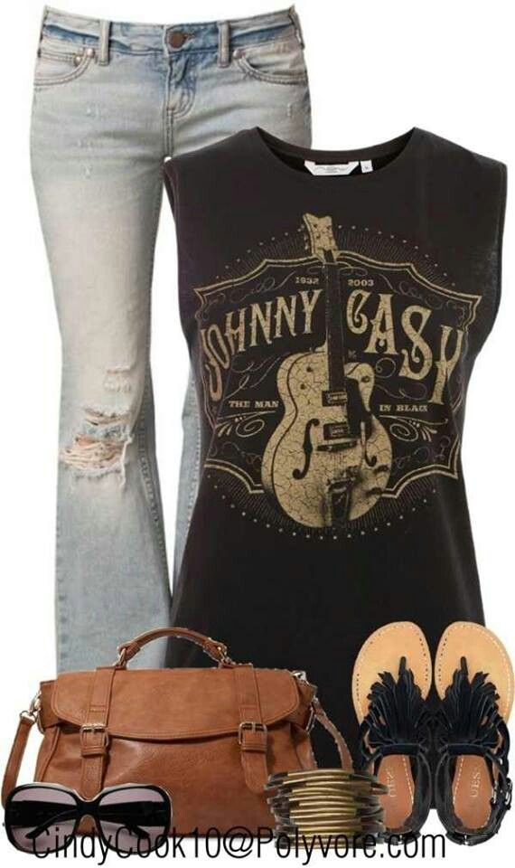 Johnny cash. Adorable Rockstar Outfit!