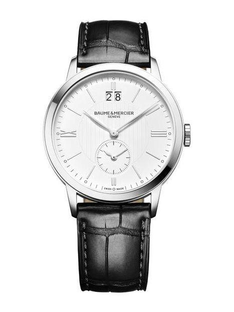 Baume & Mercier 10218 Classima Quartz - швейцарские мужские наручные часы  - черные, белые