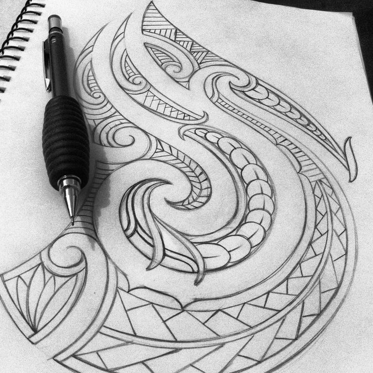 Maori tattoo design Turn upside down on shoulder