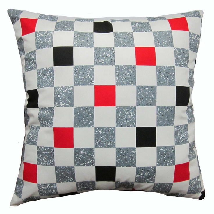 Best Throw Pillow Covers Part - 36: 18x18 Red White Grey Black Checkered Cotton Decorative Throw Pillow Covers.  $7.99, Via Etsy