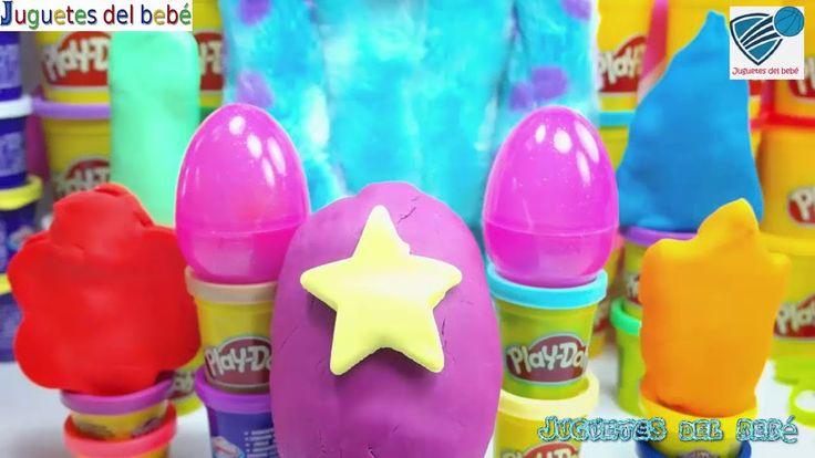 Bob Esponja jugar doh mis pequeños huevos de cerdo Peppa pony sorprenden...