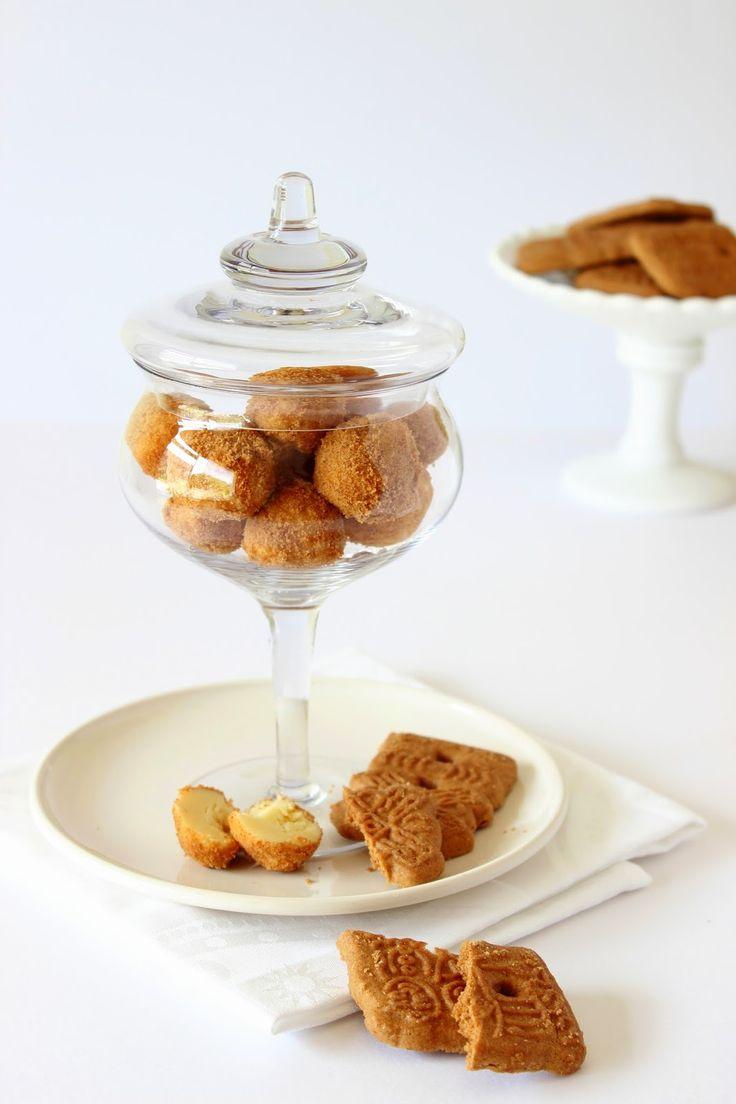 Witte chocoladetruffels met speculaas - Zoet & Verleidelijk