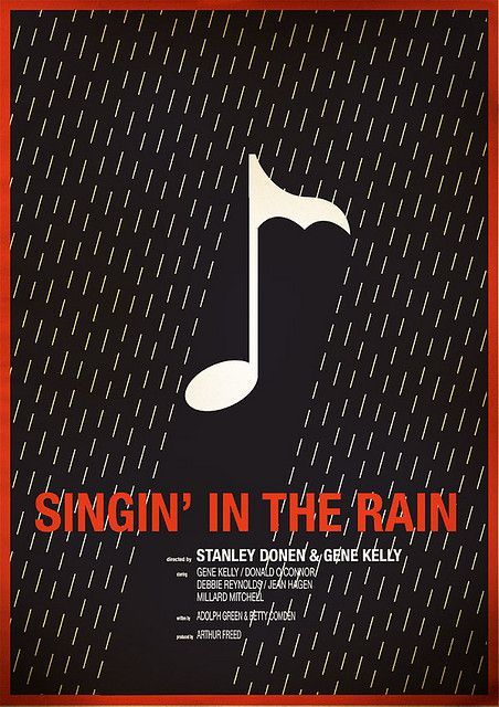Singin' in the Rain (1952) ~ Minimal Movie Poster by Chris Thornley #amusementphile