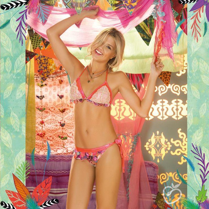 Need a ruffle rasta bikini for Jamaica this Christmas