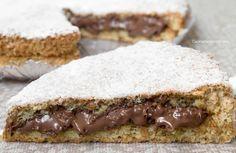 Torta Nutella e nocciole senza farina, lievito, burro, olio e latte