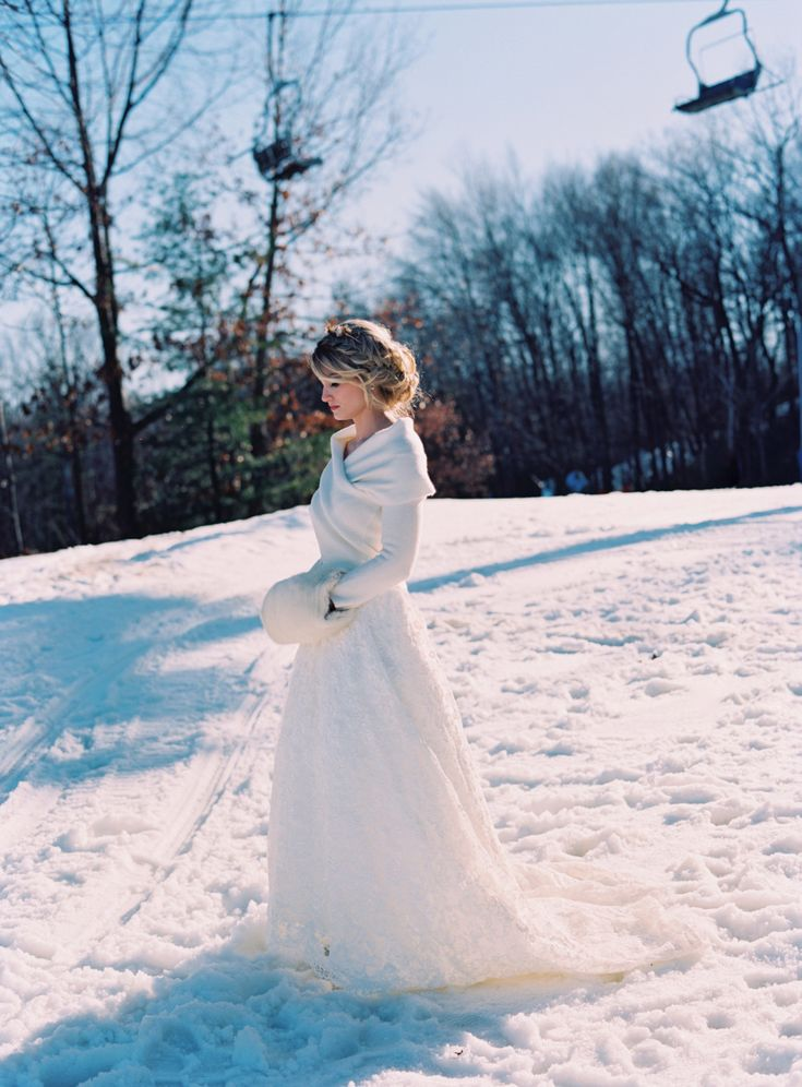 Winter wedding dress. In Your Arms sweater and Amberlee skirt  Photography: Charlotte Jenks Lewis - charlottejenkslewis.com