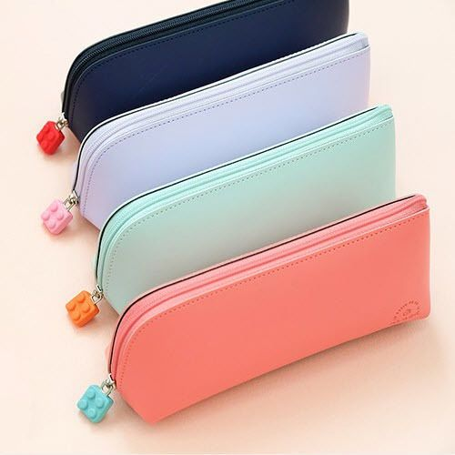 Block Pencil Pen Case Pencase Stationery Pouch Holder Storage Organizer Cute Bag #CupidGiftShop