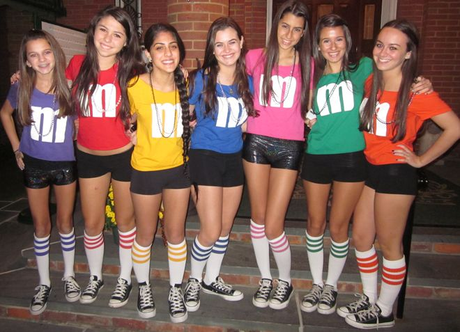 unique m&m halloween costume girls