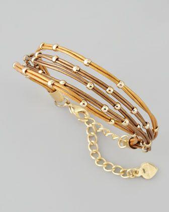 Nakamol Multi-Strand Ball Bead Bracelet, Bronze $25.00 thestylecure.com