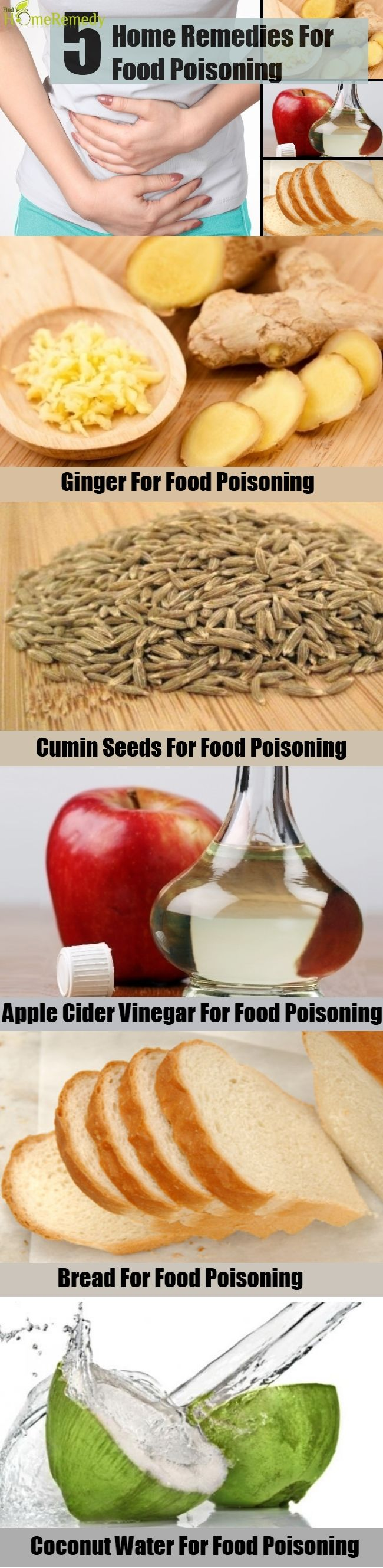 5 Excellent Home Remedies For Food Poisoning