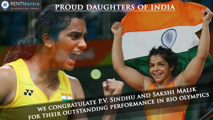 RentMantra Congratulates PV Sindhu and Sakshi Malik for their Outstanding Performance in Rio Olympics 2016. ‪#‎pvsindhu‬ ‪#‎sakshimalik‬ ‪#‎rioolympics2016‬ ‪#‎rentmantra‬ ‪#‎brokerfree‬ ‪#‎noida‬