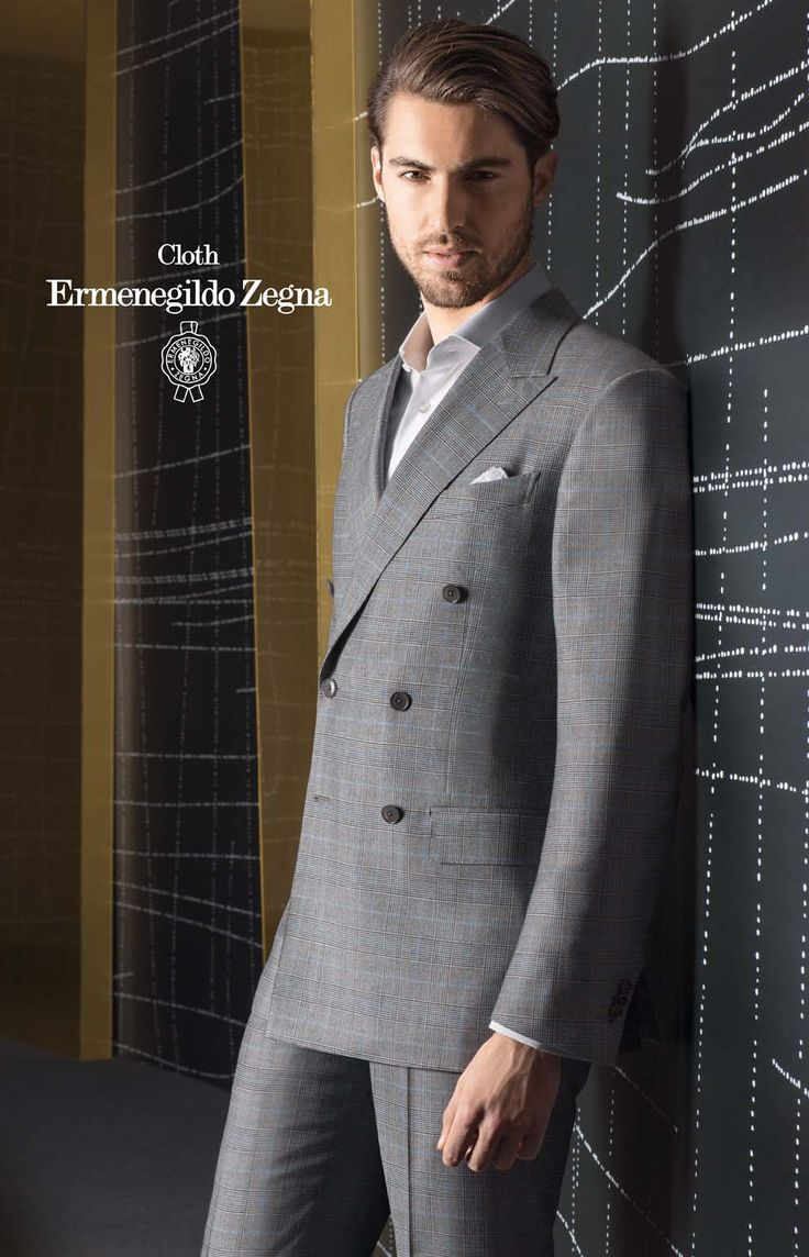 Costum business double brested made to measure, colectia Zegna TI 2013-2014, Trofeo Cashmere, compozitie 95% Wool – 5% Cashmere, 300 Gr.