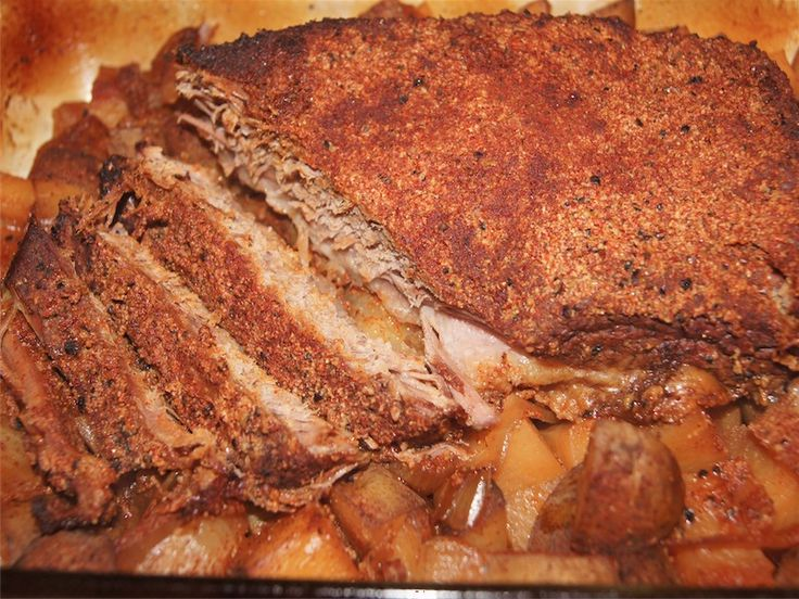 Chili Rubbed Beef Brisket and Potatoes -  The rub I used on the brisket is also great on steak, chicken, or even sprinkled on oven fries. This recipe would also be delicious with carrots or other root vegetables.