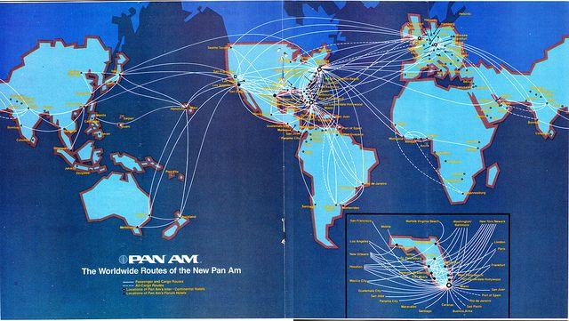 vsledek obrzku pro world map flight paths