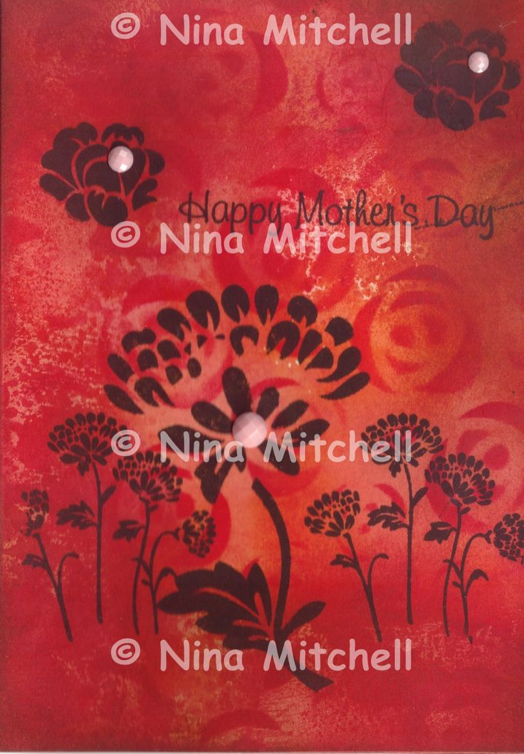 NM cards - Mother's Day Fiery background