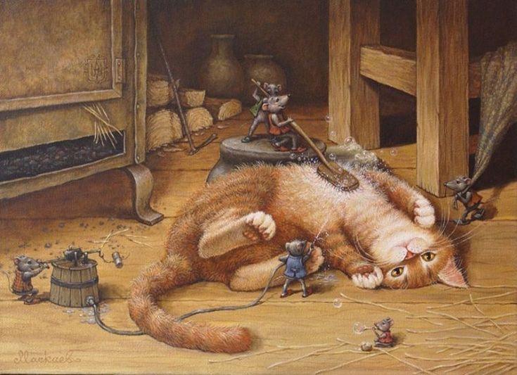 открытки кошка и крыса природного