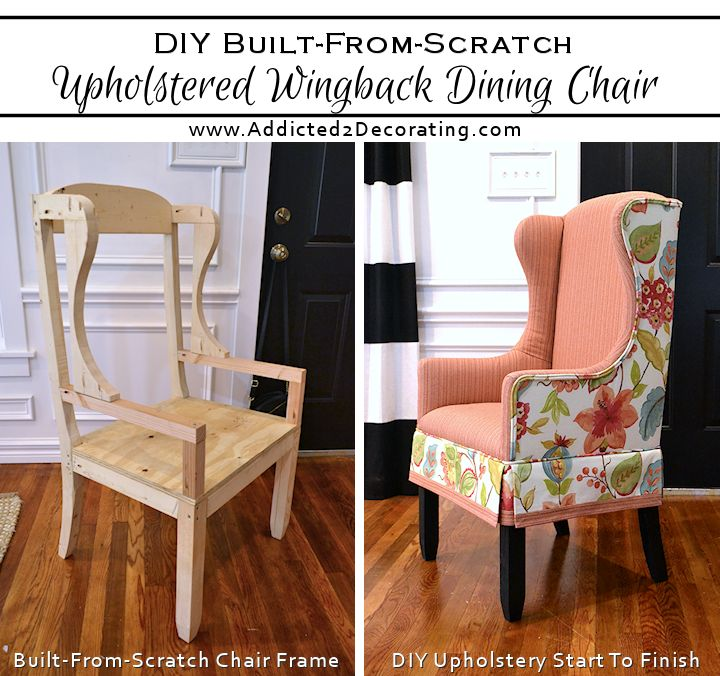 Upholster Dining Room Chairs: DIY Upholstered Wingback Dining Chair